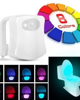 Luce wc 8 led cambia colore e sensore movimento MU MAKE UP