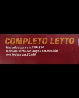 NUOVA COPPIA LENZUOLA 1 POSTO SQUADRE DI CALCIO ⚽  ⚽⚽⚽⚽⚽⚽⚽  PRODOTTI ORIGINALI CON MARCHIO UFFICIALE 😎  100% PURO COTONE GARANTITO 🌿  MADE IN ITALY  💣💣💣