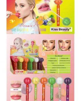 lip balm & lip oil duo lollipop con vitamina E